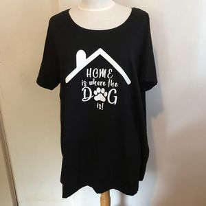 WOMAN WITHIN dog graphic tee 22/24 NEW
